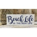 "Beach Life Box Sign 4.75"" x 11.75"" x 1.5"""