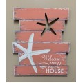"Beach House Starfish Sign 19"" x 15.75"""