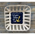 "Let Your Dreams Tobacco Basket Sign 17"" x 17"" x4"""