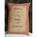"Believe in the Magic Pillow 14"" x 10"""