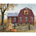 "Autumn Leaf Quilt Block Barn Canvas 12""  x 16"""