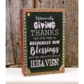 """Giving Thanks Block Sign 8"""" x 5"""""""