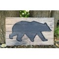 "Galvanized Outline Bear Sign 11.75"" x 20.25"""