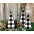 "Black Checkered Tree (set 3) 6"", 7"", 8"""