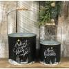 Black Christmas Buckets (set of 2)