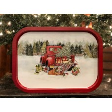 Red Truck Tray Large