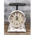 "Cream Distressed Scale Clock 11"" x 7.5"""