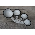 Black Rim Enamelware Measuring Cups