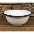 "Blue Rim Cereal Bowl   2.75"" x 5.25"""