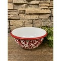 "Red Splatter Cereal Bowl    2.75"" x 5.25"""