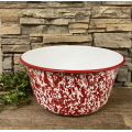 "Red Splatter Mixing Bowl   5.5"" x 11"""