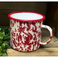 "Red Splatter Soup Mug   4"" x 4.25"""