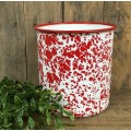 "Red Splatter Utensil Holder   6"" x 5.5"""