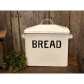 "Black Rim Enamelware Bread Box 14"" x 12"" x 8.5"""
