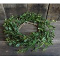 Boxwood Candle Ring 4.5""