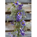 Purple Daisy Mix Garland 60""