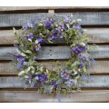 Purple Daisy Mix Wreath 22""