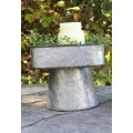 "Galvanized Rectangle Tray on Stand  10"" x 5"" x 6"""
