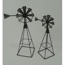 "Metal Windmills (set of 2) 10"" & 13"""