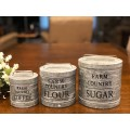 """Farm Country Canisters (set of 3) 5"""" x 4"""" & 6"""" x5"""" & 7"""" x 6"""""""
