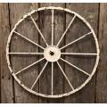 "Cream Distressed Wagon Wheel Large 20"""