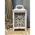 "Cream Distressed Old Farmhouse Clock 13.5"" x 7"""