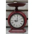 "Red Scale Clock 12"" x 8"""