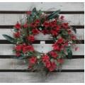 "Red Petunia Wreath 22"""