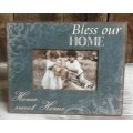 "Bless Our Home Photo Frame 8"" x 9.75"""