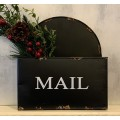 "Black Distressed Mailbox Hanger 11""x10""x3"""
