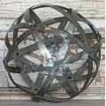 Galvanized Metal Band Sphere-L 6""