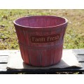"""Farm Fresh Red Basket 7"""""""
