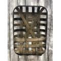 """Tobacco Basket with Pocket 24"""" x  14"""""""