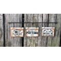 "Garden Metal Signs on Hanger 4"" x 15"""