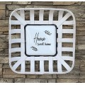 "Home Sweet Home Tobacco Basket Sign 17"" x 17"" x 4"""