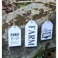 """Farm Fresh Tags (set of 3) 8"""" x 3.5"""" & 6"""" x 3.5"""""""