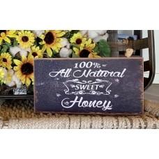 "Honey Box Sign 5"" x 10"""