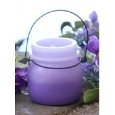 """Purple Shaded LED Keeping Jar Candle with Timer 3.5"""""""