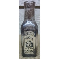 """Local Honey Glass Bottle 6.5"""""""