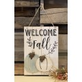 """Welcome Fall Wood Sign    15.75"""" x 11.25"""""""