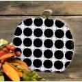 "Black Polka Dot Pumpkin 6""x6"""