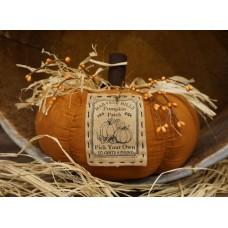 "Harvest Hill Pumpkin 7.5""x10"""
