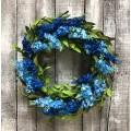 """Blue Lilac Wreath 20"""""""