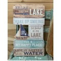 """Relax Lake Sign 19.5"""" x 11.75"""""""