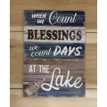 "Blessings At The Lake Sign 14"" x 10"""