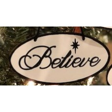 Black Rim Believe Ornament