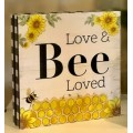 "Bee Block Sign Small 3"" x 3"""