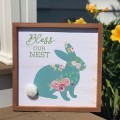 """Bless Our Nest Bunny Sign 12""""x12"""""""