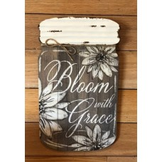 "Bloom With Grace Wall Hanger      16"" x 9.5"""