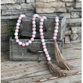 "Pastel Spring Wood Bead Strand    60"""